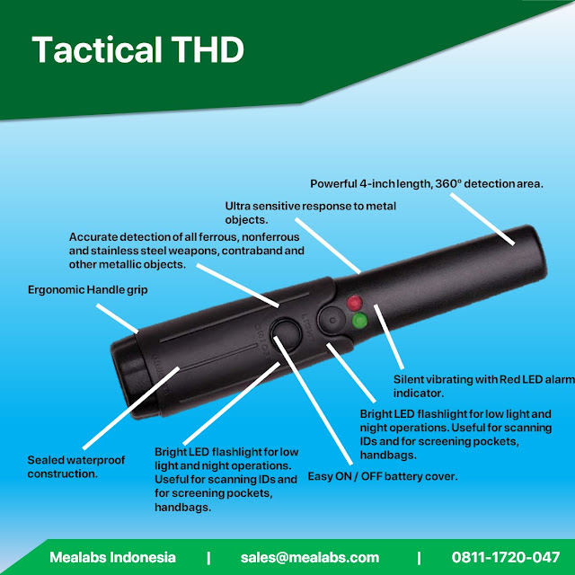 handheld metal detector garret tactical thd