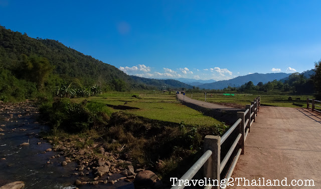 View over the valley of Bo Klua, Nan - Thailand