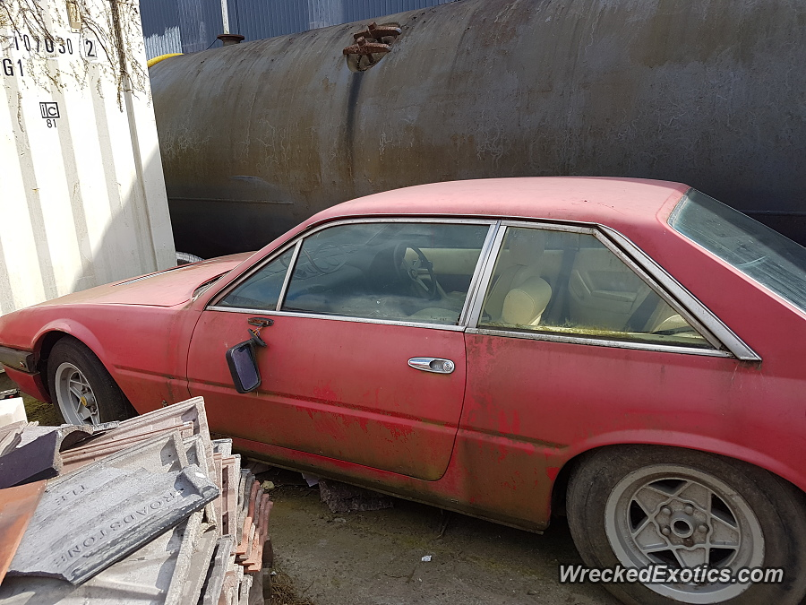 Ferrari 400: Wrecked exotics: Ferrari 400i in Dublin