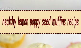 healthy lemon poppy seed muffins recipe