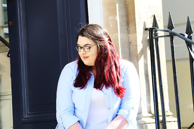 Bright Red Hair Feeling Thoughtful in Cheltenham Montpellier England