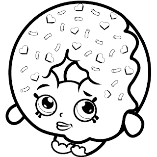 Coloring Pages Shopkins Donuts