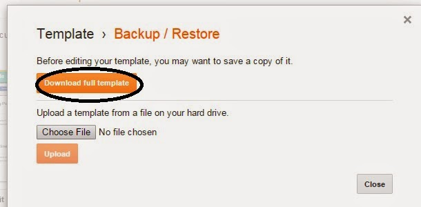 Backup Your Blogger Template in Simple Steps