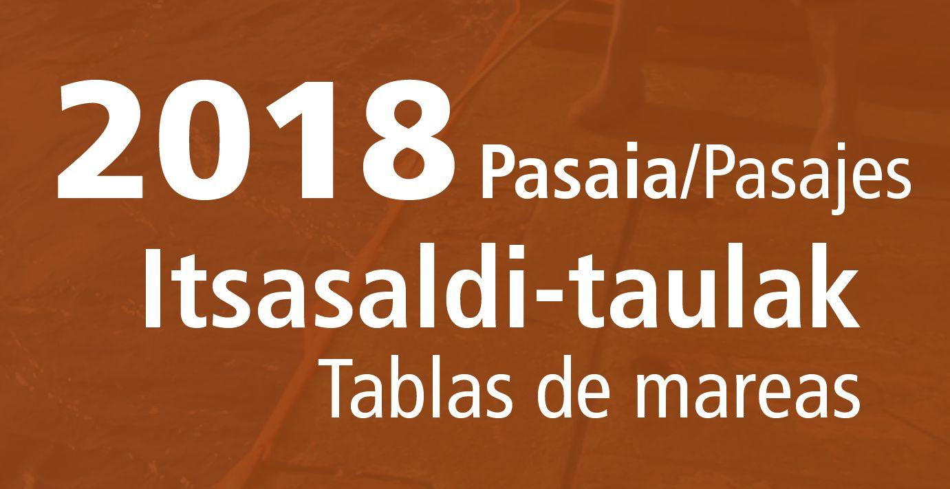 tabla de mareas pasajes 2018