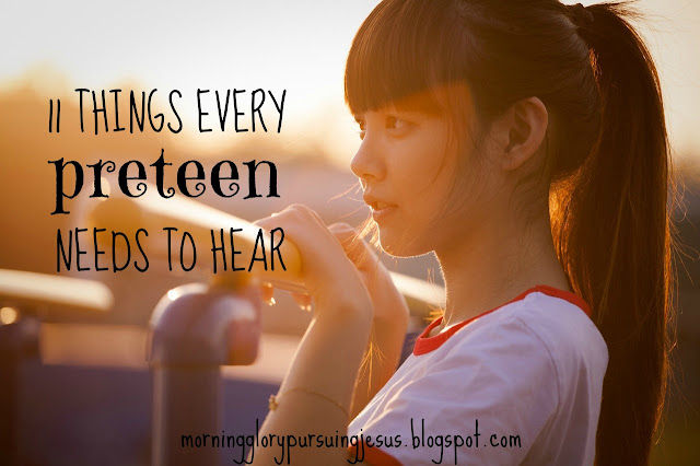 Advice for tween and preteen girl