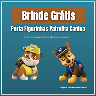 Amostra Grátis Porta Figurinhas Patrulha Canina