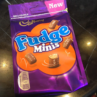 new cadbury fudge minis