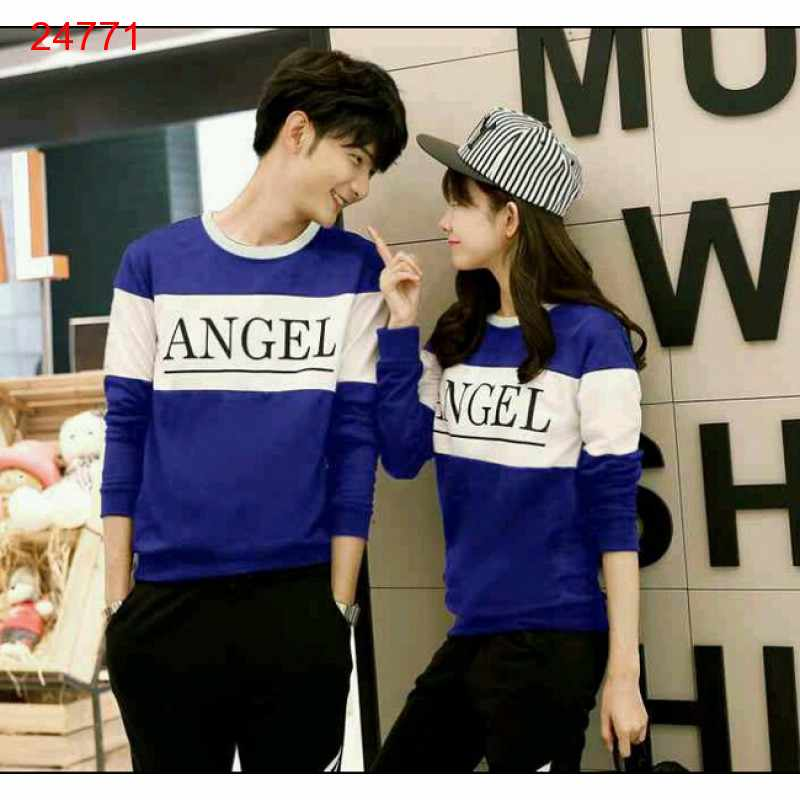 Jual Sweater Couple Sweater Angel Benhur White - 24771