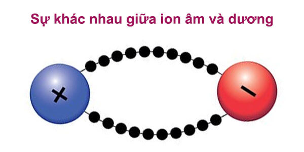 Sự khác nhau giữa ion dương và âm