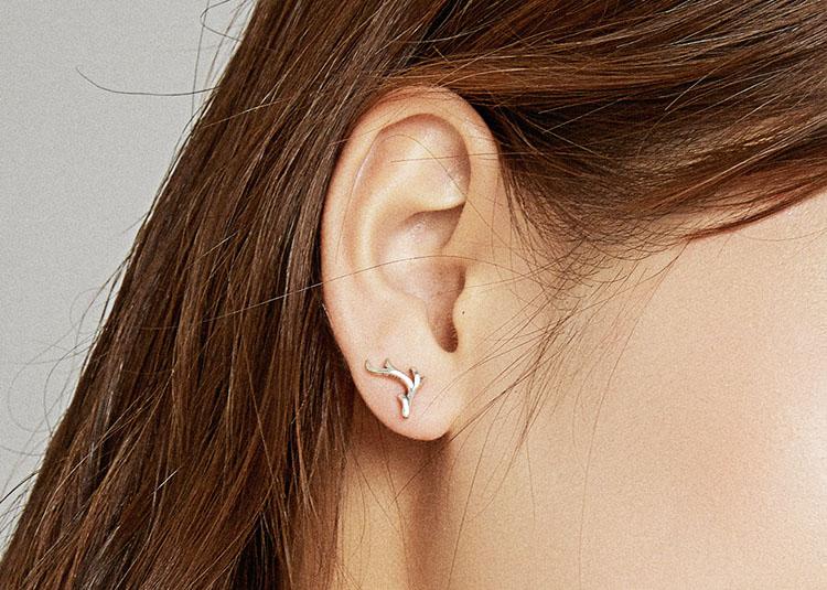 聖誕麋鹿角 925純銀耳環