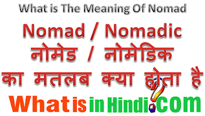 Nomad meaning in hindi