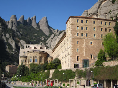 Montserrat Mountain behind the sanctuary