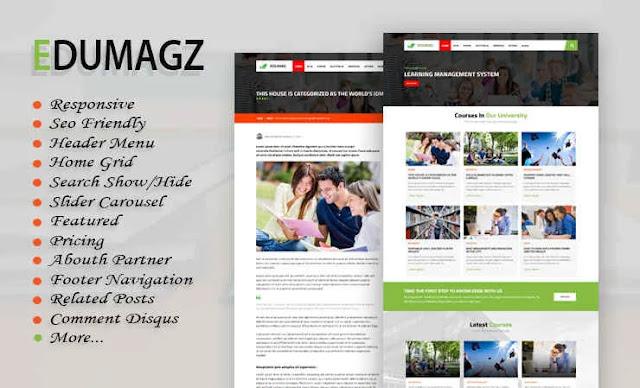 Download Edumagz Blogger Template
