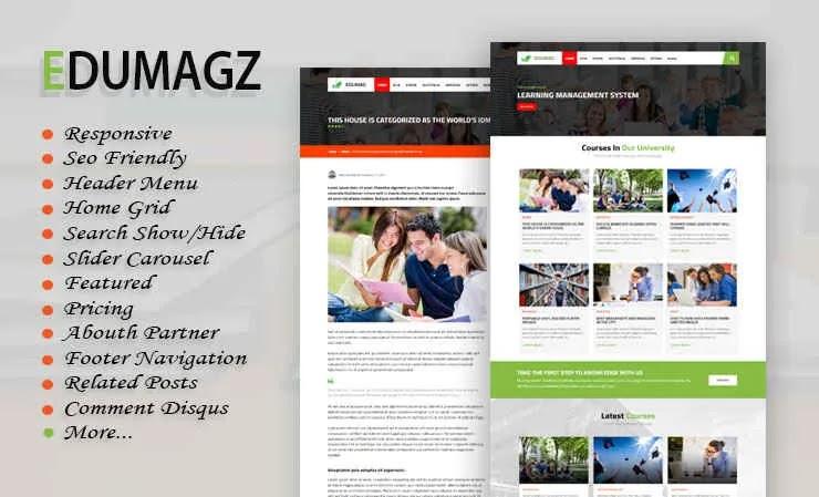 [Original] Edumagz Premium Responsive Blogger Template Free Download