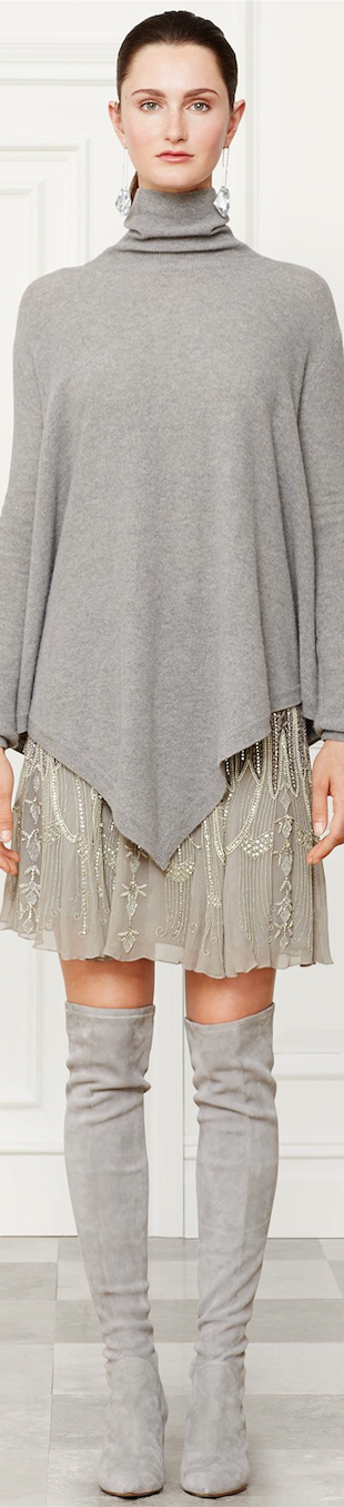 Ralph Lauren Beaded Montgomery Skirt Fall 2014 Collection