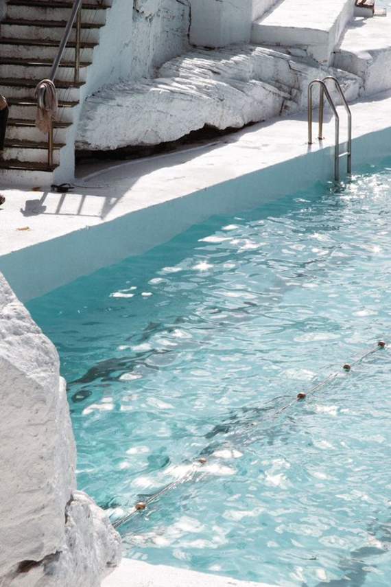 Turquoise pool waters, minimalistic outdoor design | Laura Goodall
