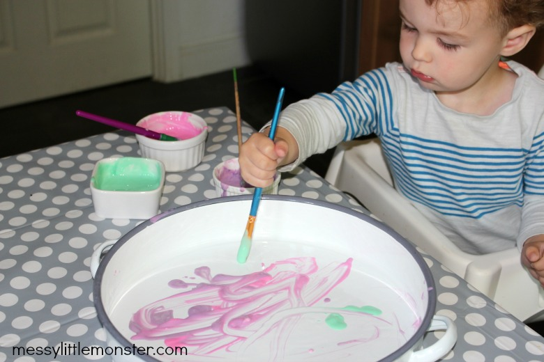 baby painting
