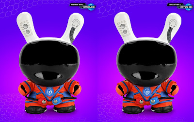 """San Diego Comic-Con 2021 Exclusive The Stars My Destination ORION Edition 8"""" Astronaut Dunny Vinyl Figure by Kidrobot"""