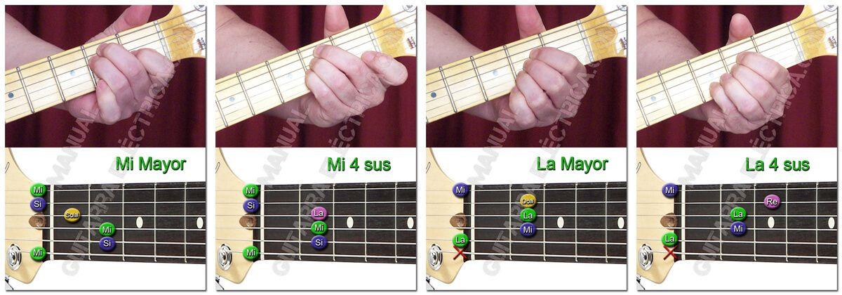 Principales Acordes de Guitarra (Cuarta Suspendida)