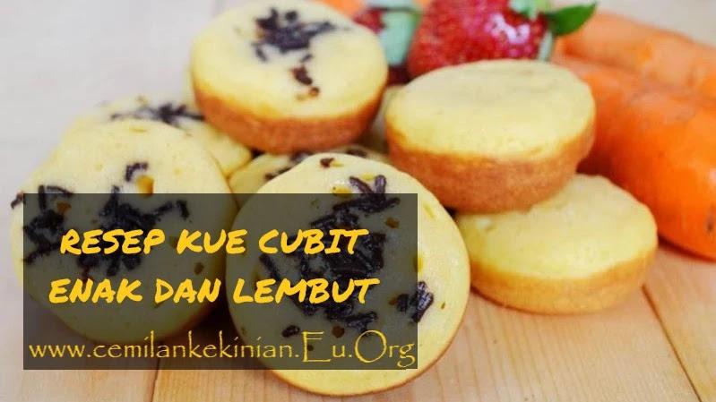 RESEP KUE CUBIT ENAK DAN LEMBUT