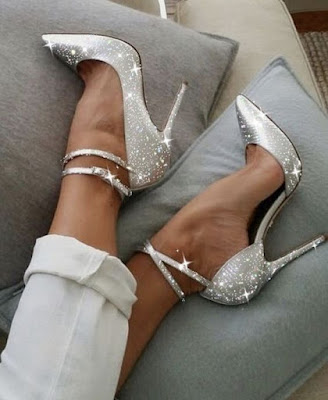 K'Mich Wedding - wedding planning - glitter white strap heels on sofa - Wedding ideas - Weddings by K'Mich - wedding planners in Philadelphia PA