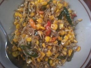 resep oseng ikan teri jagung