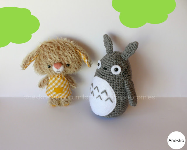 kawaii totoro and little bear