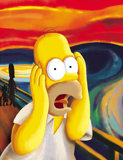 El grito de Munch - Versión Homer