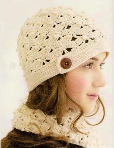 Gorro Beige a Crochet.