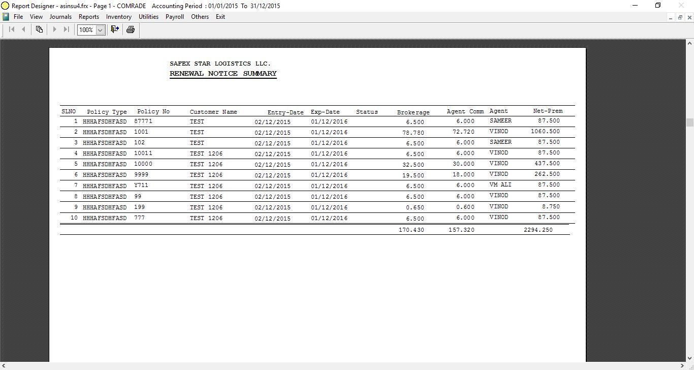 Accounting Software (Comrade ERP): COMRADE SOFTWARE