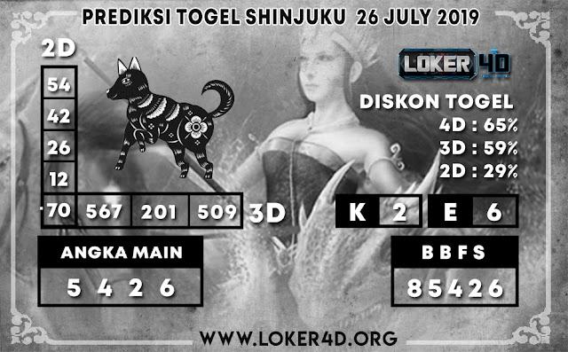 PREDIKSI TOGEL SHINJUKU LOKER4D 26 JULI 2019