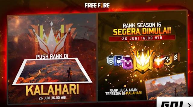 Reset Season Free Fire Season 16 Kapan ? Patch Rampage 2.0