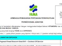 Jawatan Kosong di Lembaga Pemasaran Pertanian Persekutuan FAMA
