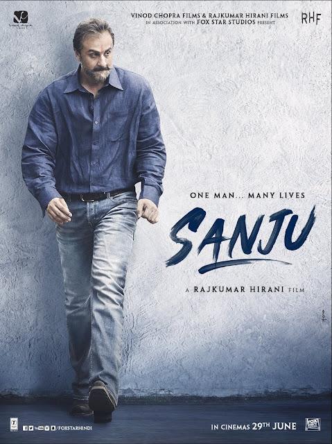 Ranbeer Kapoor in poster of sanju movie