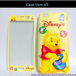 Case vivo V5 ฟิล์มกระจกลายหมีพู