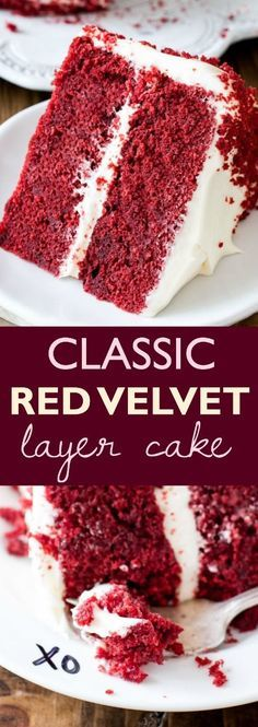Red Velvet Layer Cake wíth Cream Cheese Frostíng