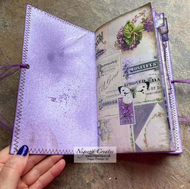 Purple Medley Journal Flick Through