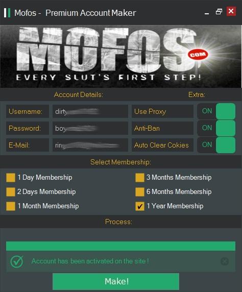 Mofos - Premium Account Maker
