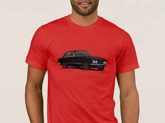 Black Bristol 411 s5 - 70's classic car T-shirt