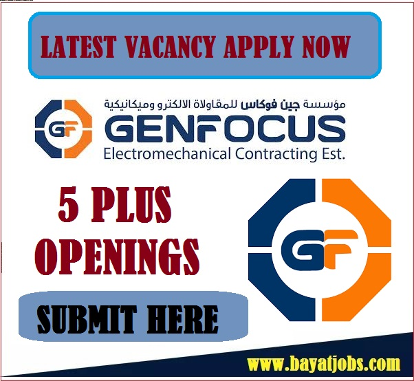 Genfocus Latest MEP and Contracting Company Jobs In UAE