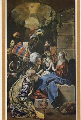 Postal de La Adoración de los Magos de Maíno de la editorial del Museo del Prado