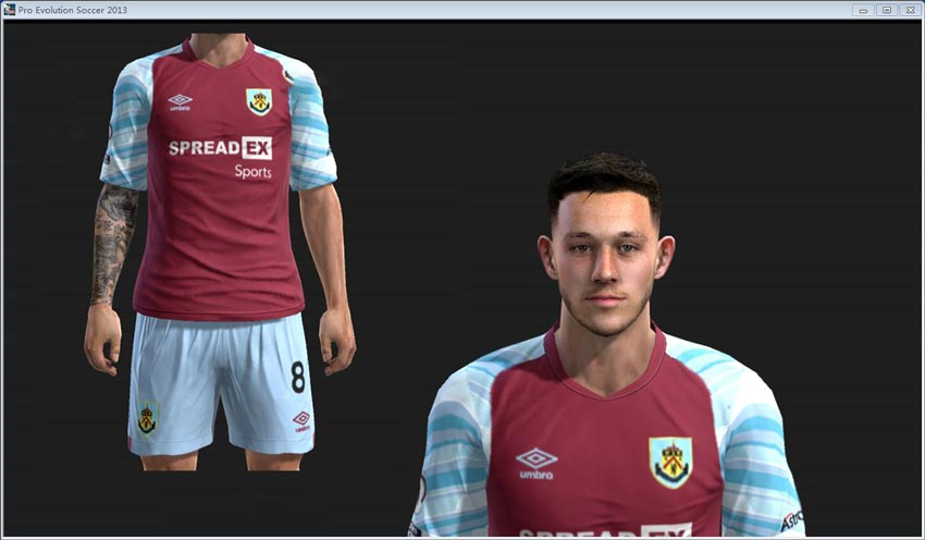 Josh Brownhill Face For PES 2013