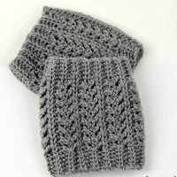 chic aran boot cuffs
