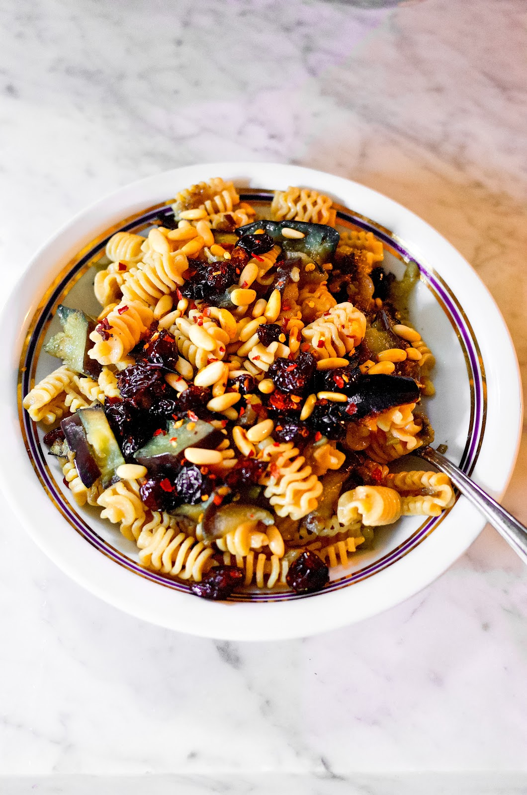 HOw to make a healthy pasta sauce with Aubergine