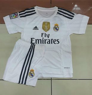 gambar detai jersey musim depan photo Jual jersey Kids Real Madrid home terbaru musim 2015/2016