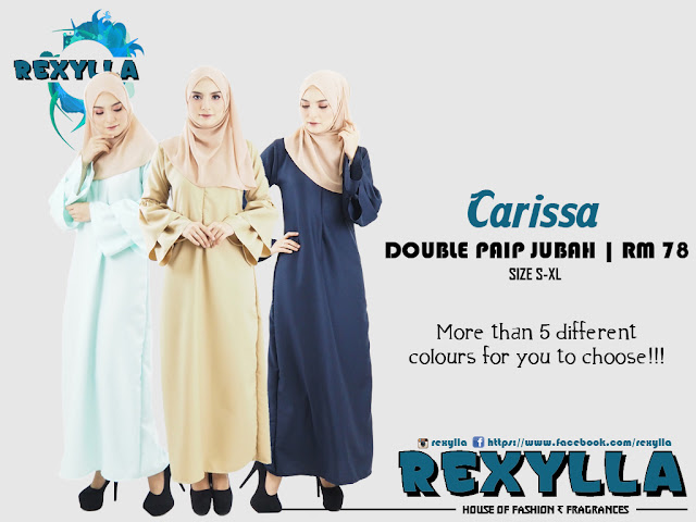 rexylla, double paip jubah, carissa collection