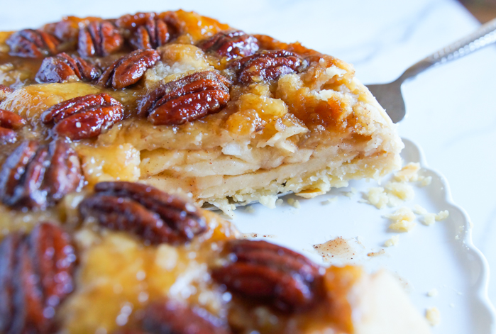 Dad's Upside-Down Pecan-Apple Pie