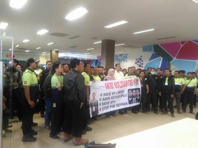 aksi solidaritas menolak phk sepihak pt. linfox