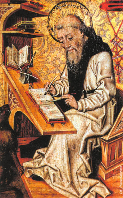Clérigo santo medieval