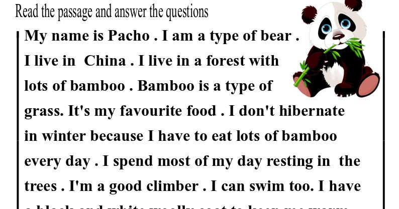 Download ( Reading comprehension worksheet) part 7